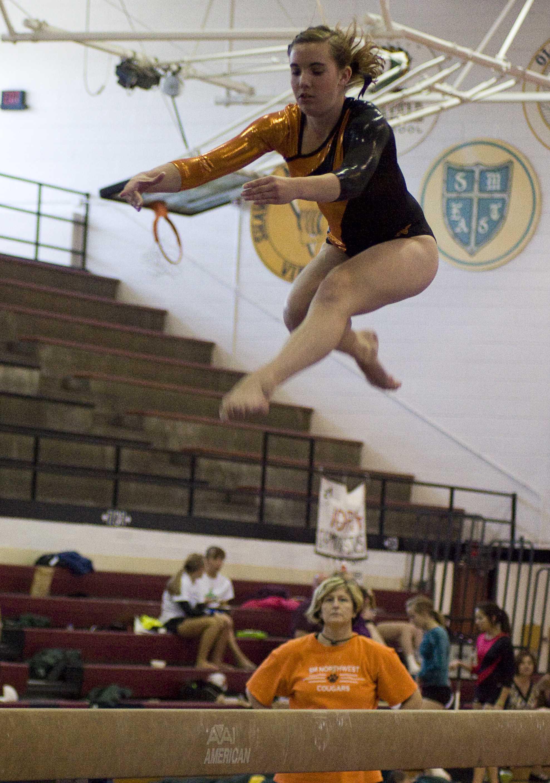Mary Graves at a previous gymnastics meet.