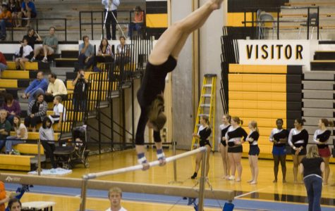 Gymnastics team starts 2009 season with hard-fought victory