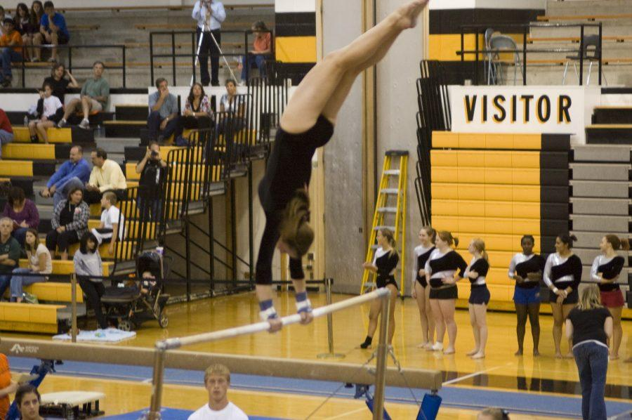 Gymnastics team starts 2009 season with hard-fought victory