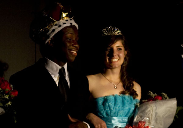 The Prom King and Queen, Abdul and Misha.
