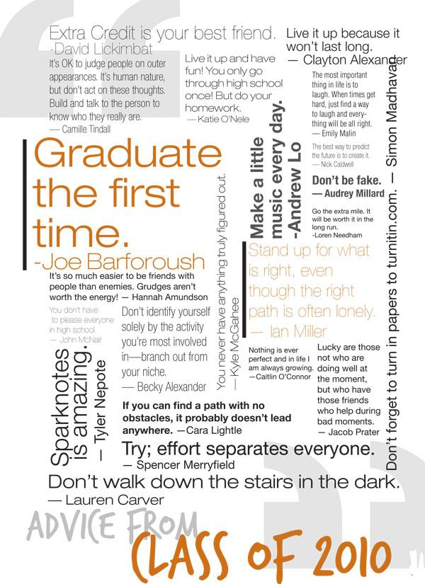 Advice from the Class of 2010